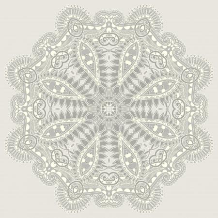Circle ornament, ornamental round lace Stock Vector - 16513820