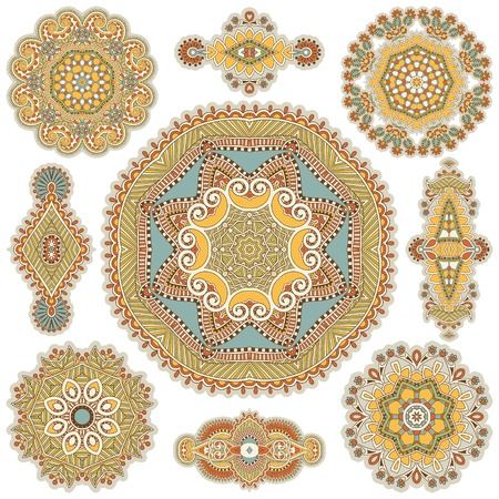 Circle ornament, ornamental round lace collection Stock Vector - 16513898