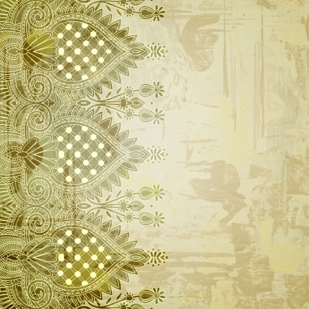 Ornamental seamless stripe, decorative element Stock Photo