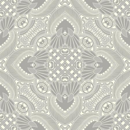Traditionele sier bloemen paisley bandana. U kunt dit patroon in het ontwerp van tapijt, sjaal, kussen, kussen Vector Illustratie