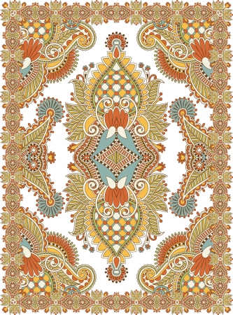 Ucrania Oriental Floral Design Seamless Ornamental Carpet