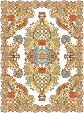 tapestry: Ukrainian Oriental Floral Ornamental Seamless Carpet Design
