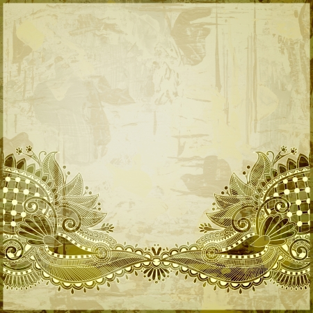 flower design on grunge background photo