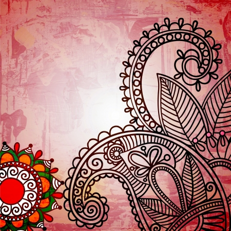 hand draw ornate floral pattern  photo