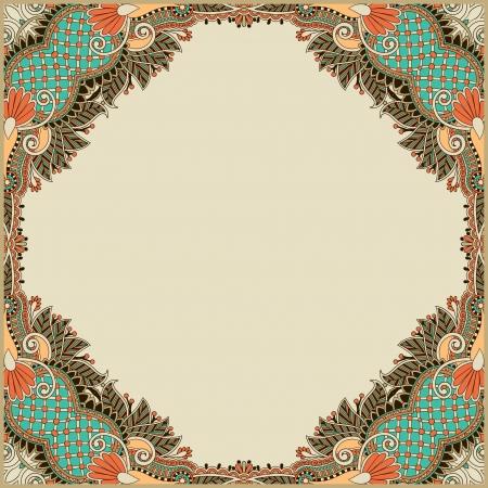 french label: marco de la vendimia floral
