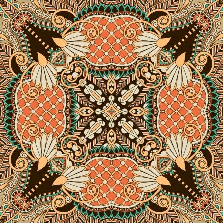 전통 장식 꽃 페이즐리 무늬 손수건. 당신은 카펫, 숄, 베개, 쿠션의 디자인이 패턴을 사용할 수 있습니다 벡터 (일러스트)