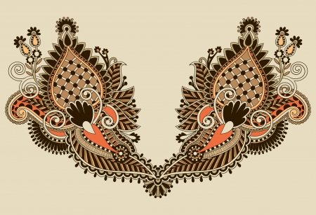 Neckline embroidery fashion  Stock Vector - 16513904