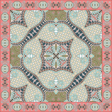 Traditional ornamental floral paisley bandanna. You can use this pattern in the design of carpet, shawl, pillow, cushion Stock Vector - 16513966