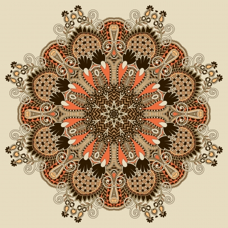 Circle ornament, ornamental round lace Stock Vector - 16557063