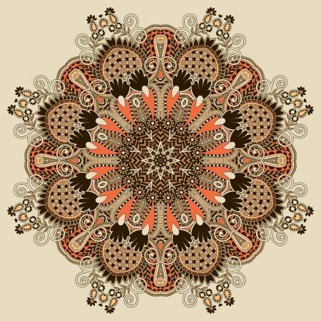 Circle ornament, ornamental round lace Stock Vector - 16557063