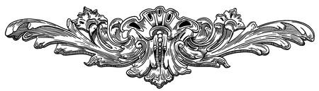 виньетка: Декоративный элемент фасада исторического здания во Львове (Украина)