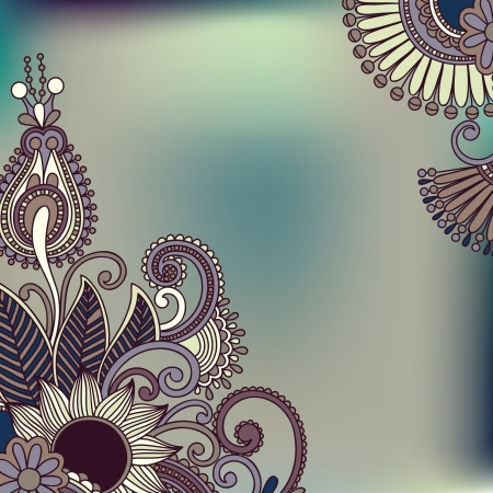 ornamental vintage floral background with decorative flowers for your design Vector