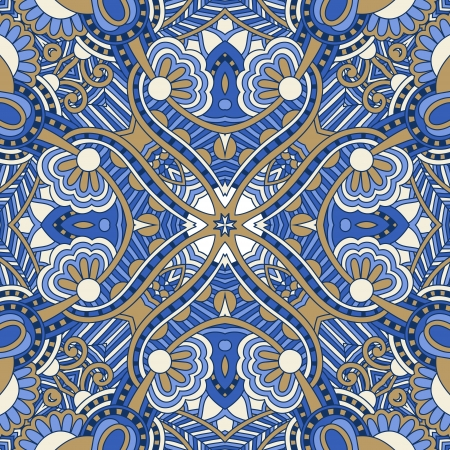 western pattern: Traditional ornamental floral paisley bandanna. You can use this pattern in the design of carpet, shawl, pillow, cushion Illustration