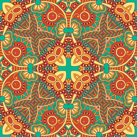head scarf: Traditional ornamental floral paisley bandanna. You can use this pattern in the design of carpet, shawl, pillow, cushion Illustration