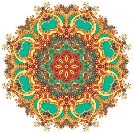 an embroidery: Ornamento del c�rculo, el encaje redondo ornamental