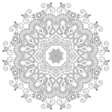retro lace: Circle ornament, ornamental round lace