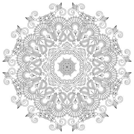 lace filigree: Circle ornament, ornamental round lace