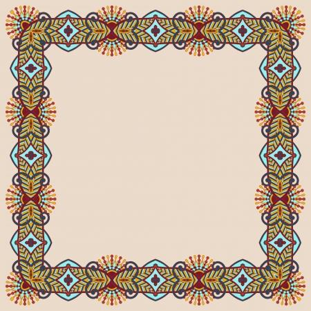 floral vintage frame Stock Vector - 16582359