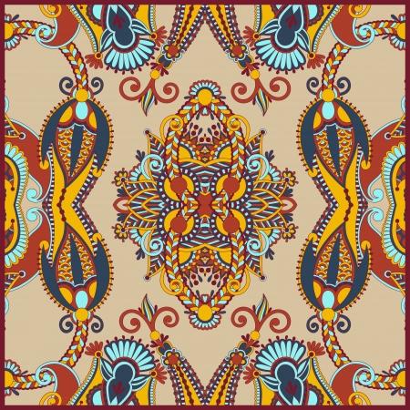 neck wear: Traditional Ornamental Floral Paisley Bandana