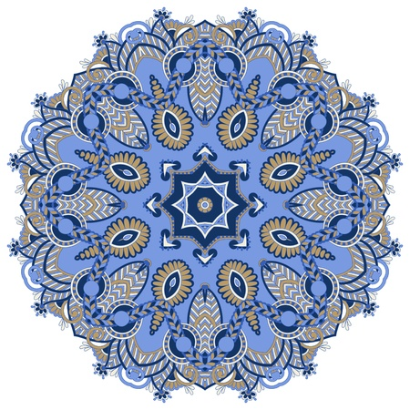 Circle ornament, ornamental round lace Stock Vector - 16595056
