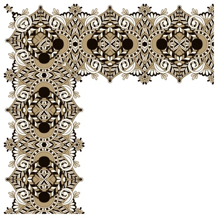 acanthus: ornamental floral vintage frame design.