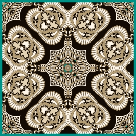 Traditional ornamental floral paisley bandanna. Ornament seamless background . You can use this pattern in the design of carpet, shawl, pillow, cushion Vector