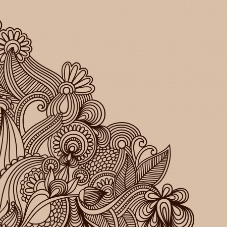 floral paisley: ornamental vintage floral background with decorative flowers for your design