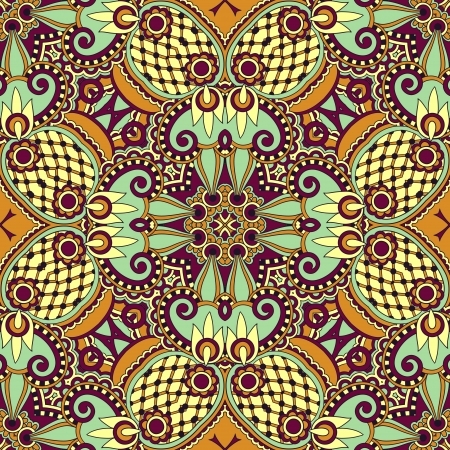 bandanna: Traditional ornamental floral paisley bandanna. Ornament seamless background . You can use this pattern in the design of carpet, shawl, pillow, cushion