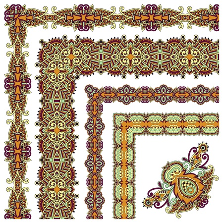 acanthus: collection of ornamental floral vintage frame design. All components are easy editable Illustration