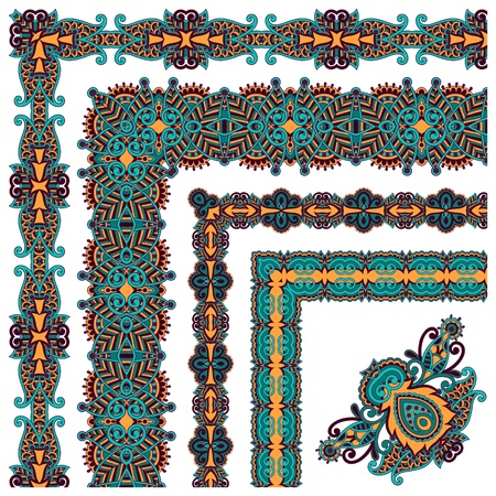 floral vintage frame design.  All components are easy editable Vector