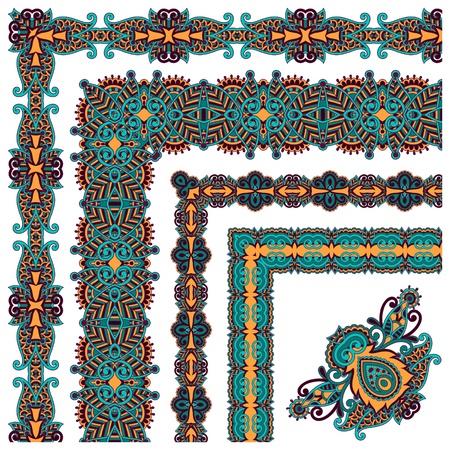 floral vintage frame design.  All components are easy editable