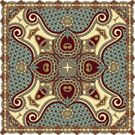 Traditional ornamental floral paisley bandanna. You can use this pattern in the design of carpet, shawl, pillow, cushion Stock Vector - 16602878
