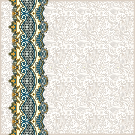 border line: ornate floral background with ornament stripe Illustration