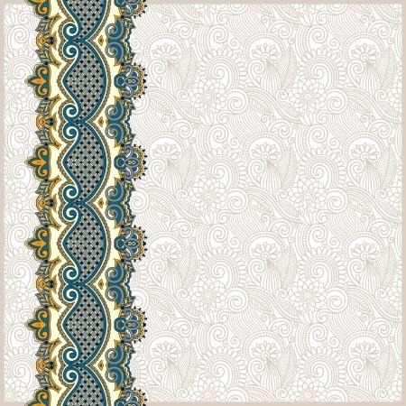 grens: sierlijke florale achtergrond met ornament streep