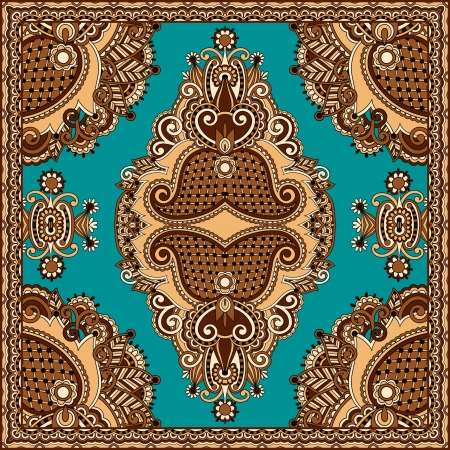 shawl: Traditional ornamental floral paisley bandanna. You can use this pattern in the design of carpet, shawl, pillow, cushion Illustration