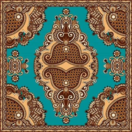 paisley pattern: Traditionnel ornement floral paisley bandana. Vous pouvez utiliser ce modèle dans la conception de tapis, châle, oreiller, coussin