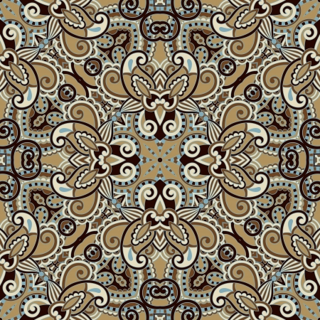 Traditional ornamental floral paisley bandanna. You can use this pattern in the design of carpet, shawl, pillow, cushion Stock Vector - 16635212