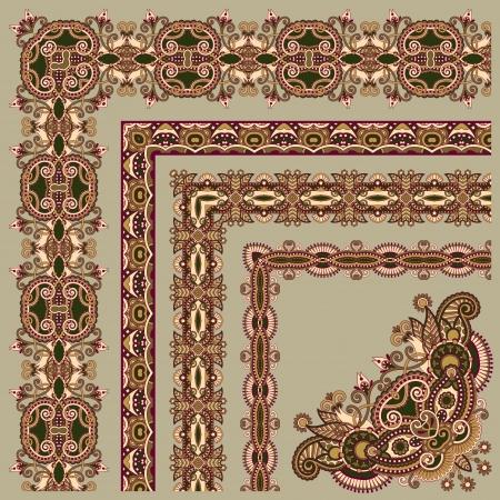 acanthus: floral vintage frame design. All components are easy editable Illustration