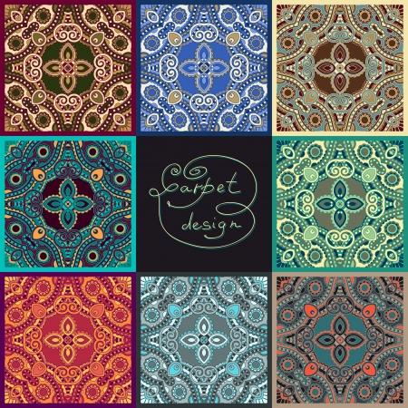 arabesque: ornamentali collezione floreale seamless texture, pizzo, ornamento caleidoscopio