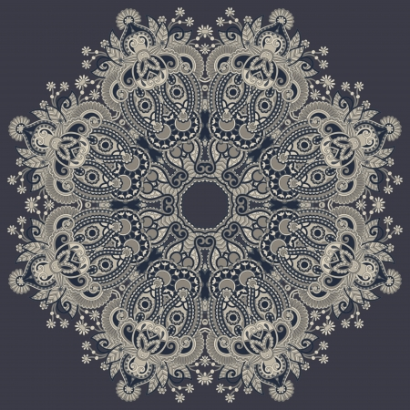 indian pattern: Circle ornament, ornamental round lace. Illustration