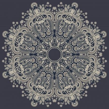 indische muster: Kreis Ornament, ornamental runde Spitze.
