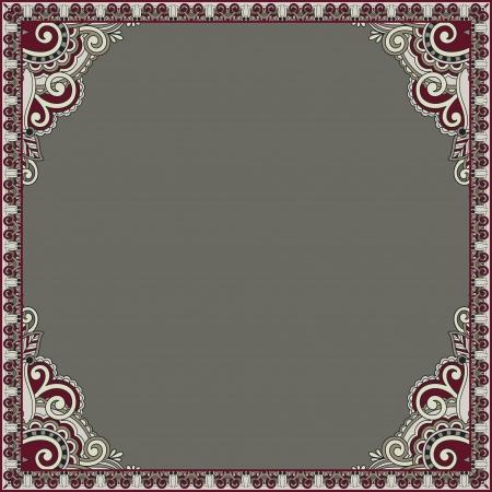 acanthus: ornamental floral vintage frame design