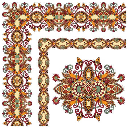 acanthus: collection of ornamental floral vintage frame design. Vector set. All components are easy editable Illustration