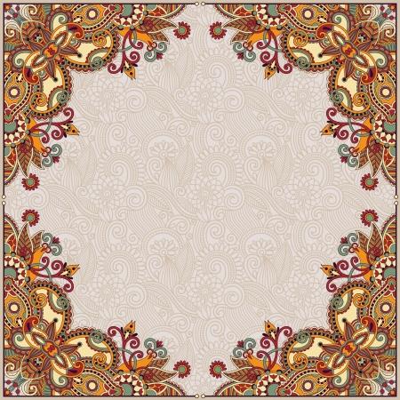 art deco background: floral vintage frame