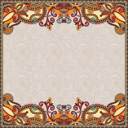 traditional french: floral vintage frame