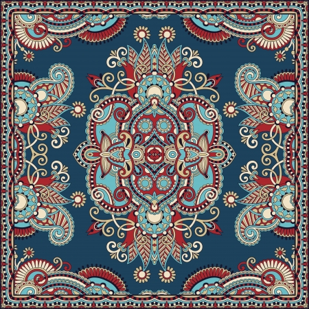 Traditional ornamental floral paisley bandanna. You can use this pattern in the design of carpet, shawl, pillow, cushion Stock Vector - 16688724