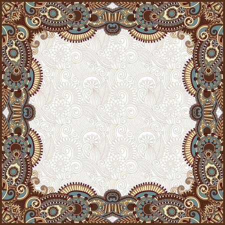 old book cover: floral vintage frame