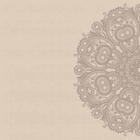 cartoline vittoriane: modello di cerchio ornamentale Vettoriali