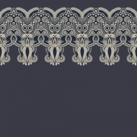 ornate floral background with ornament stripe Stock Vector - 17367274