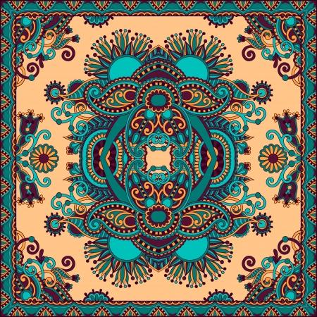 sem costura: Tradicional ornamental floral paisley bandana. Voc? pode usar esse padr?o no desenho de tapete, xale, travesseiro, almofada